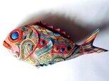 彩門縄文様極彩色金目鯛の画像