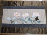 牡丹 - ビンテージ着物の布絵 タペストリーの画像
