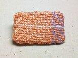 「ミニミニ2」手織り布 ブローチの画像