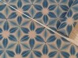 雪花絞り木綿反物13m 柿渋下地の画像