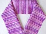 蝋しけ引き絹半衿(ピンク紫)の画像