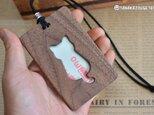 木製パスケース 【猫のシルエット】 ウォールナットの画像
