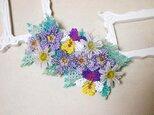 バレッタ Bouquet(パンジー×マーガレット)の画像