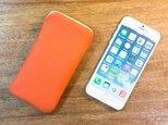 iPhone6レザーケース トリヨンクレマンス・エルメスオレンジの画像