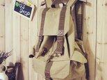 【受注製作】布リュック バッグ 登山・アウトドア RS2800の画像