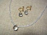 【オーダー特注品】水晶のネックレスとイヤリングの画像