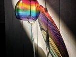 虹色ガラスの風鈴 ・ 丸の画像