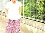【\2000 OFF】ティアードスカート(小花:グレープ)の画像