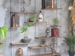 wood iron shelf 1440*1200*225〈ブラウン〉の画像