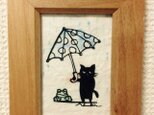 ミニ切り絵・なまいき猫ちゃん2の画像