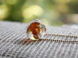 蜻蛉玉のネックレス*オレンジの画像