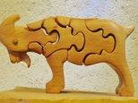木の立体動物パズル「ani-woods」やぎの画像
