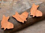 木製マグネット【コーギー】 3つセット!の画像