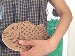 大鯛焼きポーチ*クリームの画像
