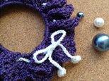 かぎ針編みのシュシュ~その4の画像
