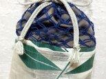 旧作につき値下・正絹七宝網の信玄袋の画像