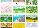 たびねこポストカード  Aセット(作家手作りーお得な12枚入)の画像