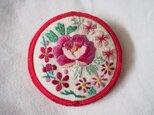 「ブローチ」ヴィンテージ手縫い・京刺繍の画像