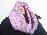 手織り スヌード ピンク グラデーションの画像