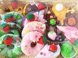 キラキラドーナツ&しずくケーキのカワイイ15個セットの画像