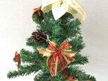 クラシカルなクリスマスツリー【ドライ+造花】の画像