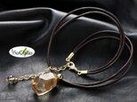 ni028  【再販作品】レモンクォーツ(タンブルカット)のショートネックレスの画像
