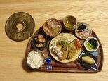 ★和の御膳・カキフライ定食(半月盆・木製風)の画像