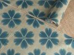 雪花絞り木綿反物12.5m エンジュ、柿渋下地の画像