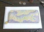ラウンドファスナー長財布(オーロラ ストライプ) 皮革 ILL0613の画像