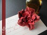 革花のヘアクリップ(赤)の画像