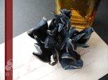 革花のヘアクリップ(藍色)の画像