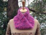 手編みのファーのメビウススヌード・4の画像