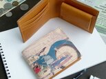 二つ折り財布(レトロ バイク)オールレザー 革  メンズ レディース ILL-1152の画像