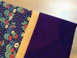 着物リメイク名刺入れ【紫×山吹】の画像