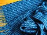 手織のストール 深縹(こきはなだ)の画像