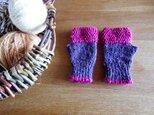 羊毛100% アイルランドの指なし手袋 / Lavender(ラベンダー)の画像