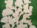 送料無料 木のおもちゃ 動物組み木 十二支の画像