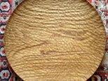 栗の丸盆(丸のみ跡仕上げ)の画像