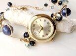 ≪再販≫ワイヤーアート 腕時計(ブルー系)の画像