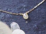 【再入荷】K10 ナチュラルダイヤモンド・ブリオレットカット一粒ネックレスの画像