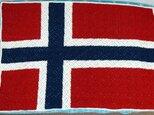 ノルウェー国旗のブランケットの画像