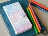 リス達の住む森〜rainbow 手帳型スマホケース《受注生産:iPhone,Android対応》の画像