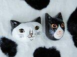 木彫りマグネット 猫の画像