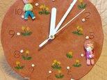 壁掛時計【タンポポとこどもたち】の画像