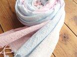 …薄桜×空色…コットンショールの画像