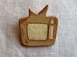 なつかしの昭和家電ブローチ 〈アナログテレビ〉の画像