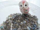 (872)マダガスカル産 ラブラドライト原石タイプ さざれ石(穴なし:約5〜16㎜) 15g450円〜の画像