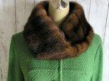 ¶ new antique fur ¶ デミバフミンクファーnejiriスヌード「lio」再販の画像