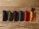 イタリア製リスシオ レザー 手縫いメガネケースの画像
