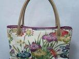 四季の花柄・着物地・トートバッグの画像